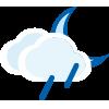 Intervalos nubosos con lluvia escasa noche